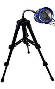 a nova luz de pesca pesca da noite mangueira de lâmpada de alumínio gimbal três pequenos mini-tripé de câmera