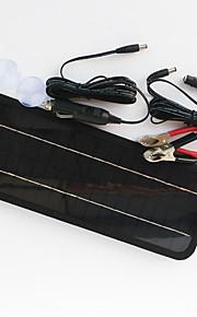 zdm® 4.5w 12V billader strømadapter utgangs monokrystallinske silisium solcellepanel (dc12-18v)