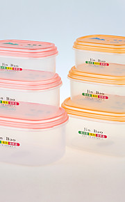 FDA godkjenne klar plastboks beholder med lokk sett av 3 stk