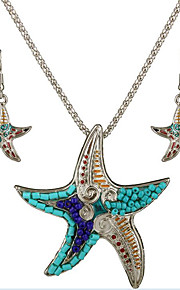 kan Polly europæiske og amerikanske mode personlighed marine søstjerner vedhæng halskæde øreringe sæt