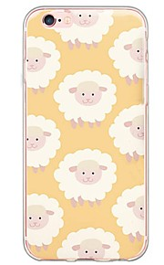 patrón TPU de la historieta ovejas contraportada suave translúcido ultrafino para el iPhone de Apple 6s 6 Plus SE / 5s / 5