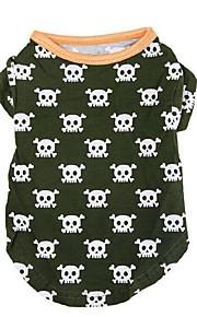 Cães Camiseta Verde Inverno / Verão / Primavera/Outono Clássico / Caveiras Casamento / Natal / S. Valentim / Da Moda, Dog Clothes / Dog