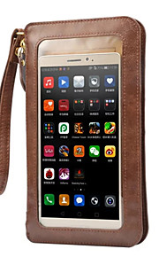 풀 바디 지갑 / 카드 홀더 / 먼지방지 한색상 인조 가죽 소프트 Touch Screen Case 케이스 커버를 들어 Apple iPhone 6s Plus/6 Plus / iPhone 6s/6 / iPhone SE/5s/5
