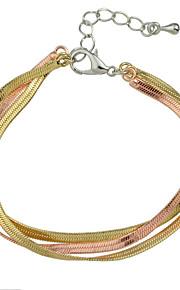 Kæde & Lænkearmbånd 1pc,Moderigtig Circle Shape Gylden Legering Smykker Gaver
