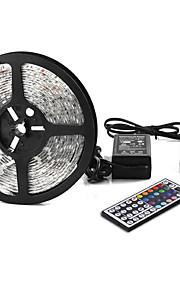 Other 5 M 300 5050 SMD RGB חסין למים / שלט רחוק / ניתן להרכבה / החלפת צבעים W סרטי תאורה RGB DC12 V
