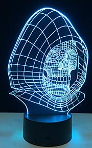 nieuwigheid 3d schedel licht lamp LED decoratie verlichting met USB Power lamp als halloween vakantie geschenken