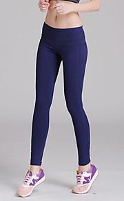 Yoga Pants Sykling Tights Pustende / Lettvektsmateriale Naturlig Høy Elastisitet Drakter Blå Dame Sport Yoga & Danse Sko