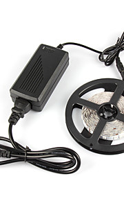# 1 M 180 5050 SMD Rød / Blå Vanntett / Selvklebende W Fleksible LED-lysstriper DC12 V