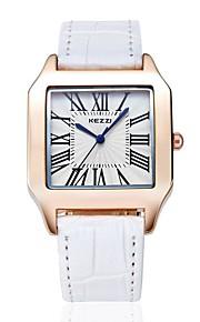 Casal Relógio de Moda Quartzo Japonês / Couro Banda Casual Preta / Branco / Marrom marca