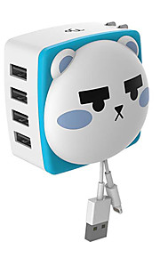 Meki MQAD-001 CAT High-speed Computer USB HUB Four Splitter High-speed 480 Mps
