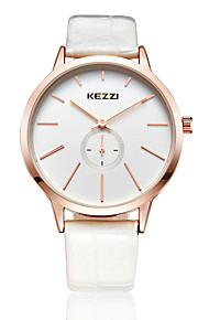 kezzi simple style white color band quarrz couple watch 1099A