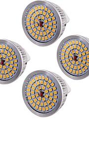 6.5 GU5.3(MR16) LED-spotpærer MR16 48 SMD 2835 600 lm Varm hvit Dekorativ AC 12 V 4 stk.