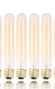 GMY 6pcs t30 edison lâmpada do vintage lâmpada 40w e26 / e27 decorar lâmpada 185 milímetros