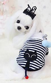 Cães Casacos Branco Inverno / Verão / Primavera/Outono Clássico / Riscas / Animal Casamento / Natal / S. Valentim / Férias / Da Moda, Dog