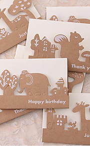 Creative Kraft Animal Greeting Retro Hollow Dream Forest Greeting