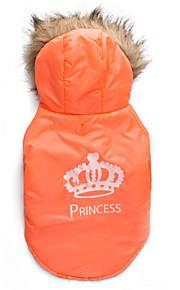 Gatos / Cães Casacos / Camisola com Capuz Laranja Inverno Tiaras e Coroas Mantenha Quente, Dog Clothes / Dog Clothing-DroolingDog