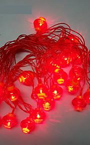 10m 24led rød lykt streng lys