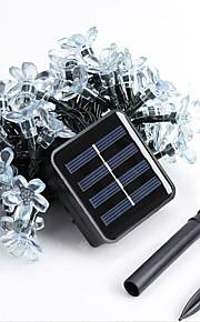 1pc водить солнечный дом рождественские украшения на открытом воздухе 7м 50dip струнные светильники