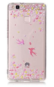 Capa traseira Ultra Fino / Transparentes / Em relevo / Estampa Desenhos Animados TPU Macio Case Capa Para HuaweiHuawei P9 / Huawei P9