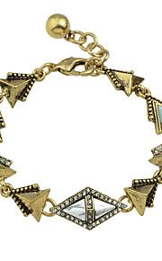 Charm-armbånd 1pc,Moderigtig Triangle Shape Gylden Legering Smykker Gaver