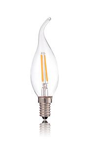 2W E14 Lâmpadas de Filamento de LED CA35 2 COB 180LM lm Branco Quente / Branco Frio Decorativa AC 220-240 V 1 pç