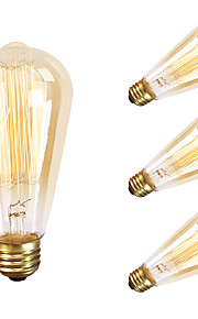 gmy 4pc st64 13molybdenum проволоки старинные лампы 60W E26 AC120V украшают лампу