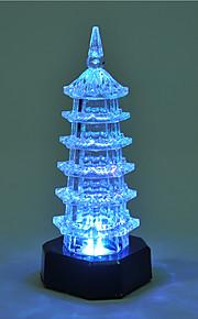 kreative fargeskiftende akryl romantisk pagode søt par nattlys jul lys dekorasjon