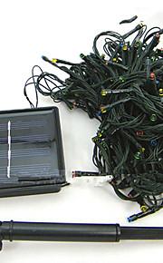 1pc водить солнечный дом рождественские украшения на открытом воздухе 22m 200dip струнные светильники
