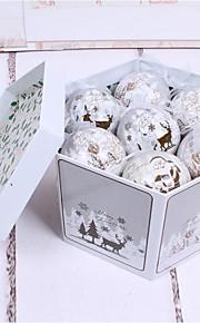 Christmas Ornament 8Cm14 Premium Gold Santa Claus Deer Painted Ball