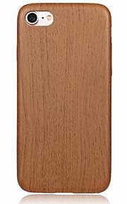 Skal Ultratunn trä PU-läder Mjuk Fallet täcker för Apple iPhone 7 Plus / iPhone 7 / iPhone 6s Plus/6 Plus / iPhone 6s/6 / iPhone SE/5s/5