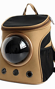 Cat / Dog Carrier & Travel Backpack / Astronaut Capsule Carrier Pet Carrier Portable / Breathable Khaki Fabric