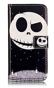 Ganzkörper Brieftasche / Flip Totenkopf PU - Leder Hart Fall-Abdeckung für Apple iPhone 7 plus / iPhone 7
