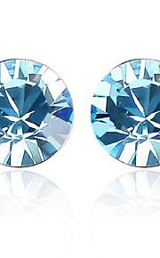 Øreringe Circle Shape Smykker 1 par Mode Daglig Platin Belagt Dame Sølv