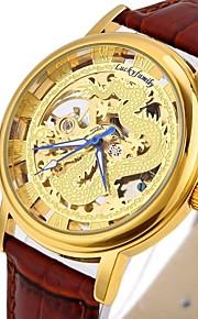 CAGARNY Masculino Relógio Esqueleto Relógio de Moda Relógio de Pulso relógio mecânico Gravação Oca Automático - da corda automáticamente