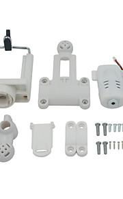 SYMA / WLToys / Yizhan X600 / X400 / X6 / x5C / X5SW / V262 / V353 / V666 / H8C RC TXJ-001 Câmera / Câmara / Vídeo RC Quadrotor Branco ABS