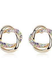 Øreringe Circle Shape Smykker 1 par Mode Daglig Legering Dame Gylden