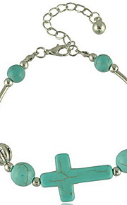 Armbånd Charm-armbånd Legering Cross Shape Mode Daglig Smykker Gave Blå,1pc