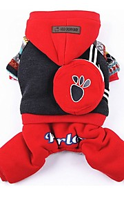Cães Casacos / Macacão Vermelho / Azul Roupas para Cães Inverno / Primavera/Outono RiscasDa Moda / Mantenha Quente / Dia Das Bruxas /