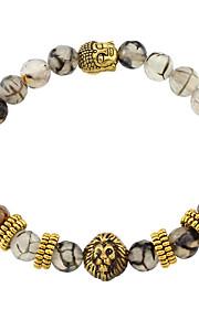 Armbånd Strand Armbånd Agat Circle Shape Mode Daglig Smykker Gave Gylden,1pc