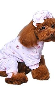 Gatos / Perros Saco y Capucha / Mono / Pijamas / Bandanas y Sombreros Amarillo / Azul / Rosado Ropa para Perro Invierno / Primavera/Otoño