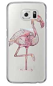 Per retro Ultrasottile / Traslucido Fantasia animale TPU Morbido Copertura di caso per Samsung GalaxyS7 edge / S7 / S6 edge plus / S6