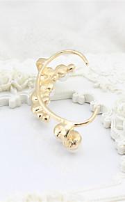 Øreringe Oval Shape Øreringsfæste Smykker Dame Imiteret Perle Bryllup / Party Perle 1 par Hvid