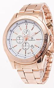 Masculino Relógio de Moda / Relógio de Pulso Quartz Calendário Aço Inoxidável Banda Pendente / Casual Ouro Rose marca