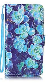 Ganzkörper Kartenhalter / Brieftasche / mit Ständer / Flip / Muster Blume PU - Leder Hart Fall-Abdeckung für LG LG K7
