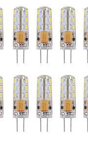 2 G4 LED-lampor med G-sockel Tub 24 SMD 3014 144 lm Varmvit / Kallvit Dekorativ AC 12 V 10 st
