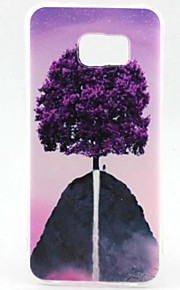 EFORCASE Painted Purple Tree TPU Phone Case for Samsung Galaxy S7 edge S7 S6