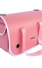 Gato / Dog Transportines y Mochilas de Viaje / Mini Mensajero Mascotas Portadores Portátil / Transpirable Cuero Rosa