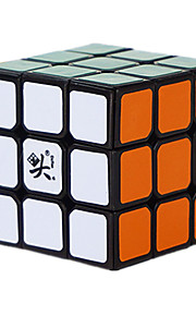 Dayan® apaziguadores do stress / Cubos Mágicos 3*3*3 / Cube velocidade lisa Preta Plástico Brinquedos
