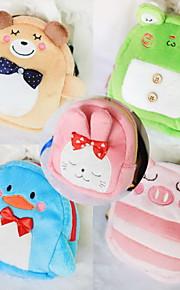 Dog Backpack Green / Blue / Brown / Pink Cute Cartoon Pet Bag Plush Fabric Summer / Spring/Fall