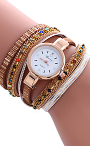 Mulheres Relógio de Moda / Bracele Relógio Quartz / PU Banda Legal / Casual Preta / Branco / Azul / Vermelho / Dourada marca